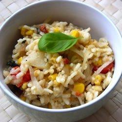 Risotto with Tomato, Corn and Basil recipe