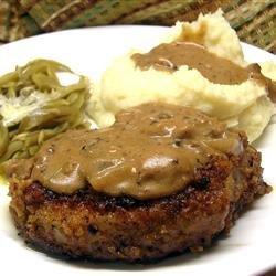 Grandma's Pork Chops in Mushroom Gravy recipe