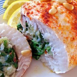 Flounder Stuffed With Arugula (Rocket) and Sun-Dried Tomatoes recipe