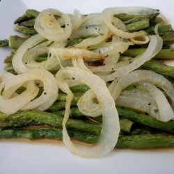 Roasted Asparagus With Onions recipe