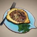 Roasted Acorn Squash With Wild Rice Stuffing recipe