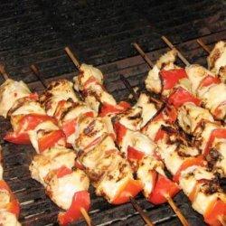 Mustard Chicken and Bell Pepper Kabobs recipe