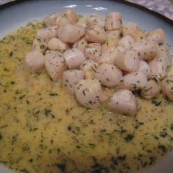 Bay Scallops with Lemon and Dill recipe