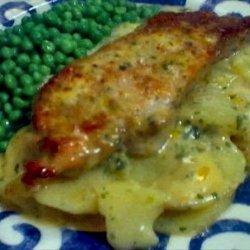 Pork Chops and Creamy Potato Scallop recipe