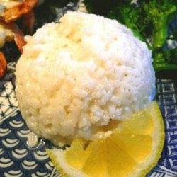 Steamed Rice With Coconut and Lemon recipe