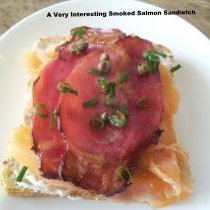 A Very Interesting Smoked Salmon Sandwich recipe