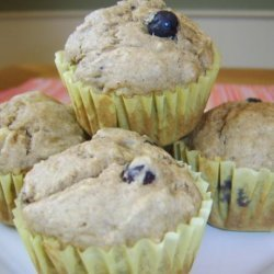 Banana Blueberry Wheat Muffins recipe