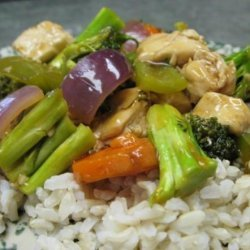 Orange Ginger Chicken and Veggies recipe