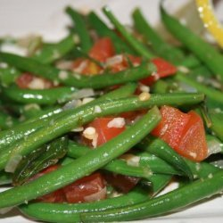 Green Beans Braised With Tomatoes and Basil recipe