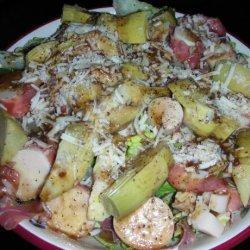 Romaine, Palm and Artichoke Salad recipe