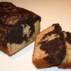 Martha Stewart's Marble Cake With White Chocolate Glaze recipe