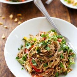 Peanut Chicken Soba Salad recipe