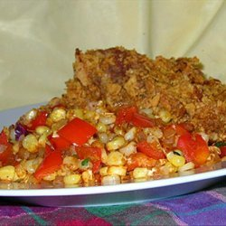 Caramelized Corn With Onions and Red Bell Peppers recipe