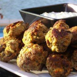 Meatballs With Eggplant and Feta recipe