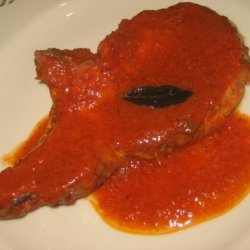 Pork Chops in Tomato Sage Sauce recipe
