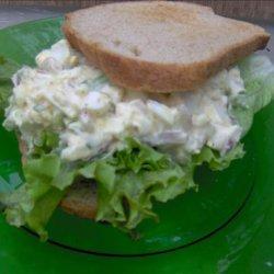 Warm Egg Salad on Whole Wheat Toast recipe