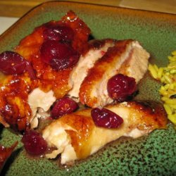 Roast Duck With Cranberry Glaze recipe
