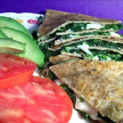 Tortillas With Spinach and Mozzarella Cheese recipe