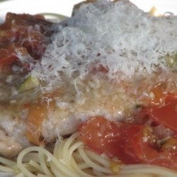 Pork Scalloppini With Green Olives, Tomato And White Wine recipe