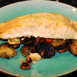 Roasted Salmon With Root Vegetables recipe