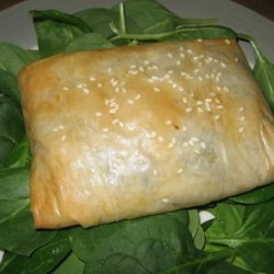 Chicken, Cheese and Mushroom Strudels recipe