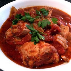 Saucy Italian Style Chicken Thighs - Crock Pot recipe