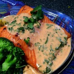 In a Heartbeat Atlantic Salmon With Red Curry Coconut Sauce recipe