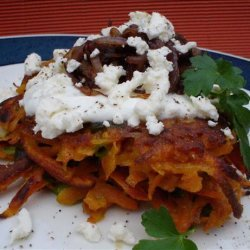 Vegetable Fritters With Caramelised Onions recipe