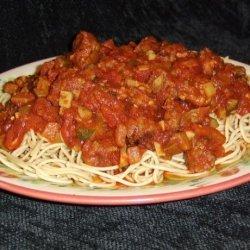 Bek's Spiced up Spaghetti Sauce recipe