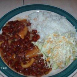 Stew Peas and Rice recipe