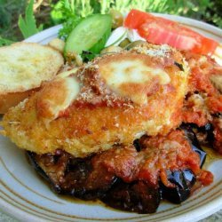Oven Baked Chicken and Aubergine (Egg Plant) Parmigiana recipe
