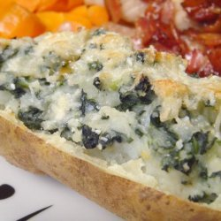 Spinach and Cheese Baked Potato recipe