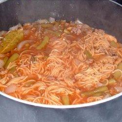 Beefy Spaghetti Soup recipe