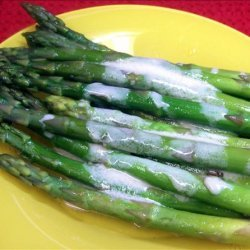 Oven Baked Asparagus With Mustard Sauce recipe