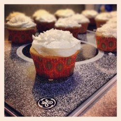 Coconut Angel Cupcakes With Coconut Frosting recipe
