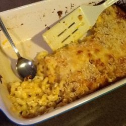 Baked Macaroni & Cheese W/ Breadcrumb Topping recipe