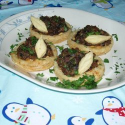 Wild Mushroom and Leek Galettes (Open Faced Pies) recipe