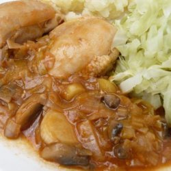 Chicken With Leeks and Mushrooms recipe