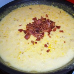 Creamed Corn With Bacon and Leeks recipe