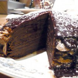 Crepe Cake With Espresso Chocolate Glaze recipe