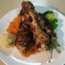 Honey Mustard Chicken With Kumara Carrot Mash recipe