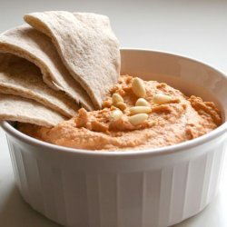 Roasted Red Pepper Hummus With Pine Nuts recipe