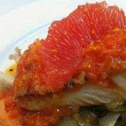 Halibut With Grapefruit Beurre Blanc recipe