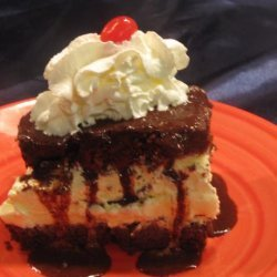 Hot Fudge Ice Cream Sundae Cake recipe
