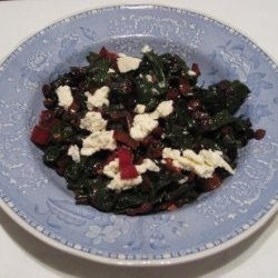 Swiss Chard With Currants and Feta recipe