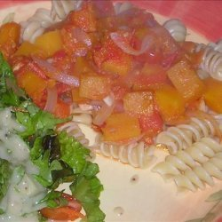 Pasta With Winter Squash and Tomatoes recipe