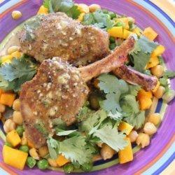 Spiced Lamb  With Coriander Pumpkin (21 Day Wonder Diet: Day 1 ) recipe