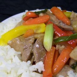 Stir-Fried Pork With Sweet and Sour Sauce recipe