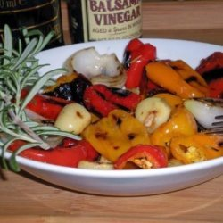 Grilled Peppers With Olives and Feta Cheese recipe