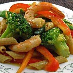Shrimp Pasta Salad With Asian Dressing recipe